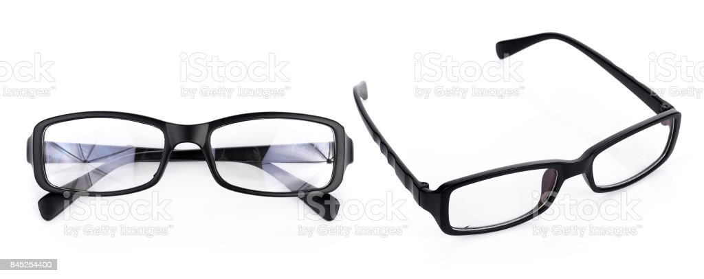 Black Eye Glasses Isolated On White Background Stock Photo Download Image Now