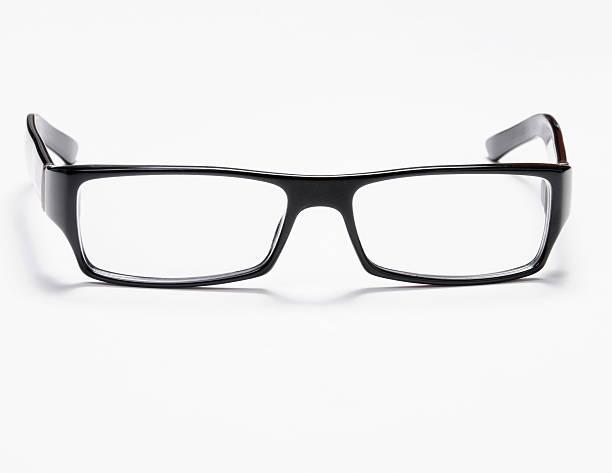 Black Eye Glasses Isolated on White stock photo