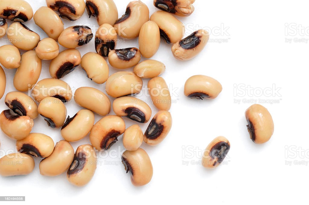 Black Eyed Peas Scattered royalty-free stock photo