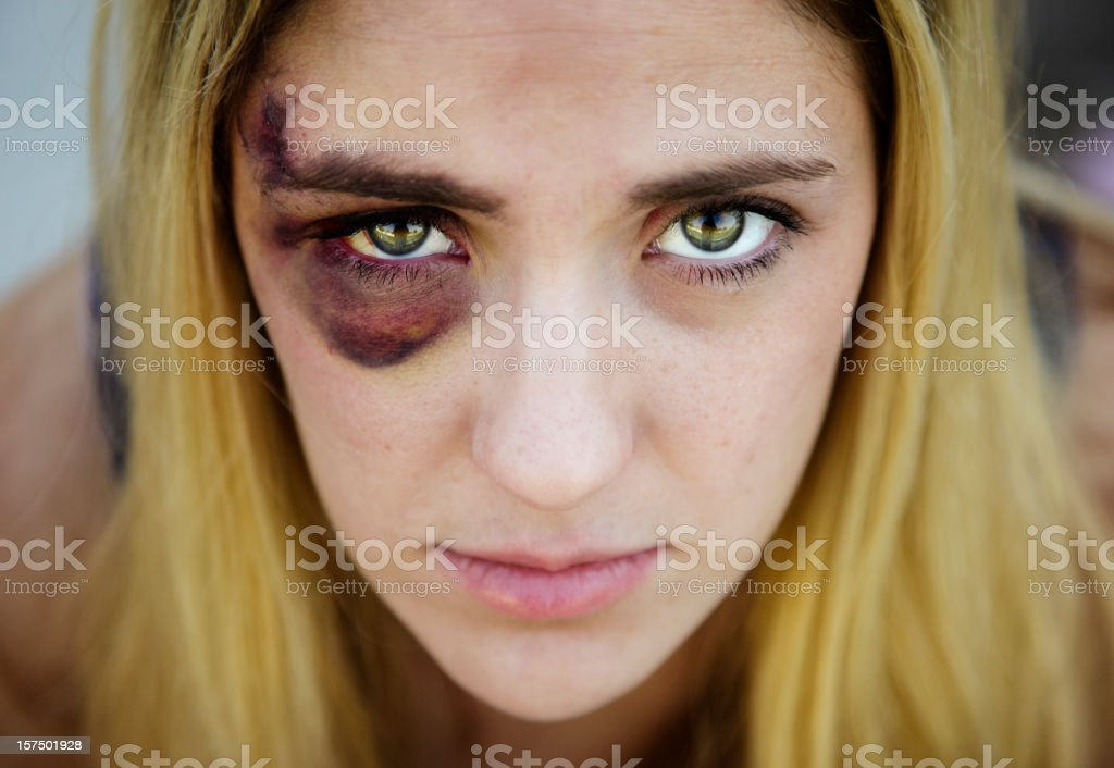 Black Eyed Woman stock photo