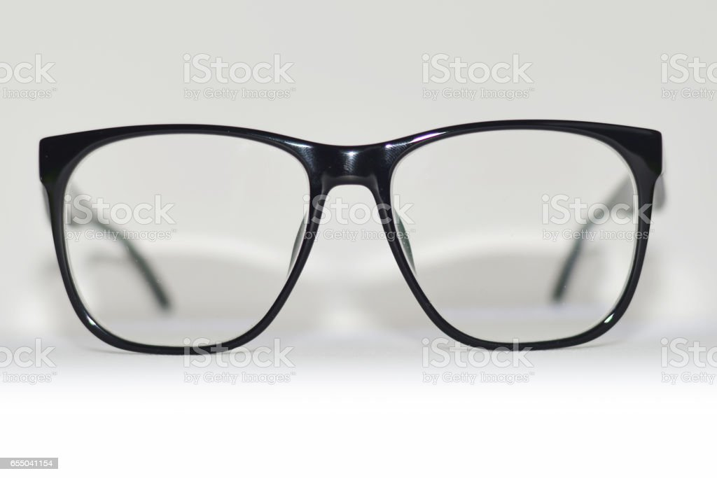 Black eyeglasses stock photo