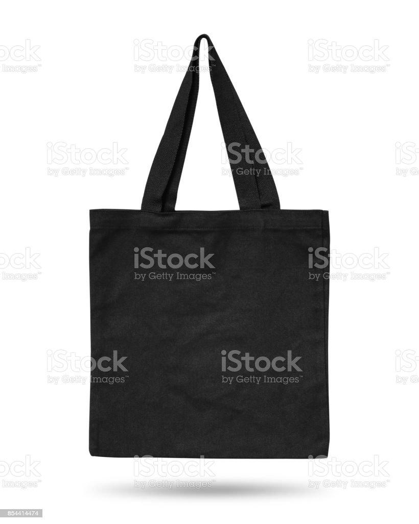 77bbb6125d154 Schwarzer Stofftasche isoliert auf weißem Hintergrund. Stoff-Tasche für Ihr  Design. Recycling-
