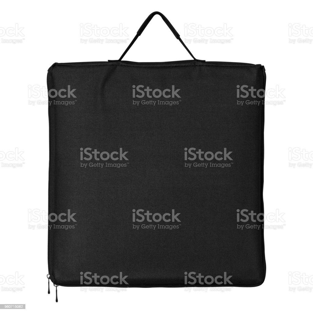 0329fdbceccfc Schwarzer Stofftasche isoliert auf weißem Hintergrund. Shopping Tasche für  Design. (Clipping-Pfad