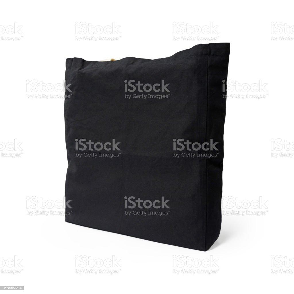 11240e8dd6c81 Schwarzer Stofftasche auf isolierte Hintergrund mit Beschneidungspfad.  Lizenzfreies stock-foto