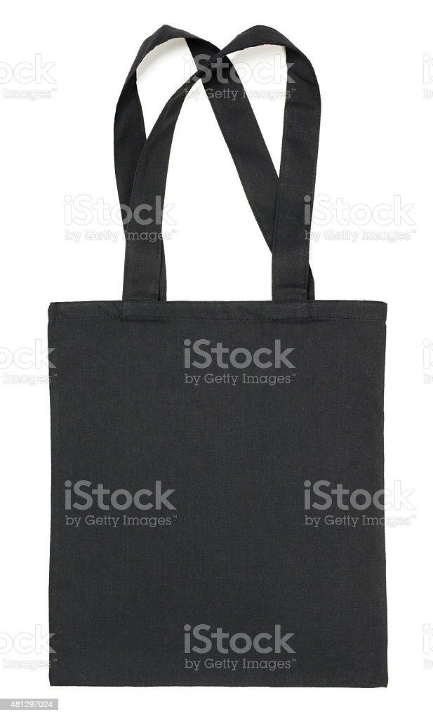 Bolsa de tela negro sobre blanco - foto de stock