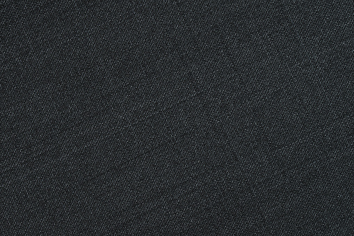 Black fabric texture. Textile background.