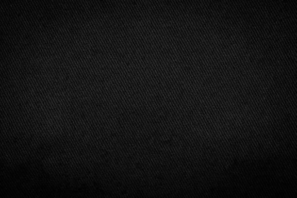 black fabric texture background. detail of dark textile. - textile stock photos and pictures