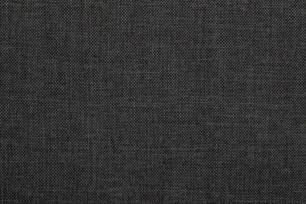 siyah kumaş doku - tuval tekstil stok fotoğraflar ve resimler