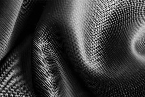modern fashion design fabric. shining with silver reflection.