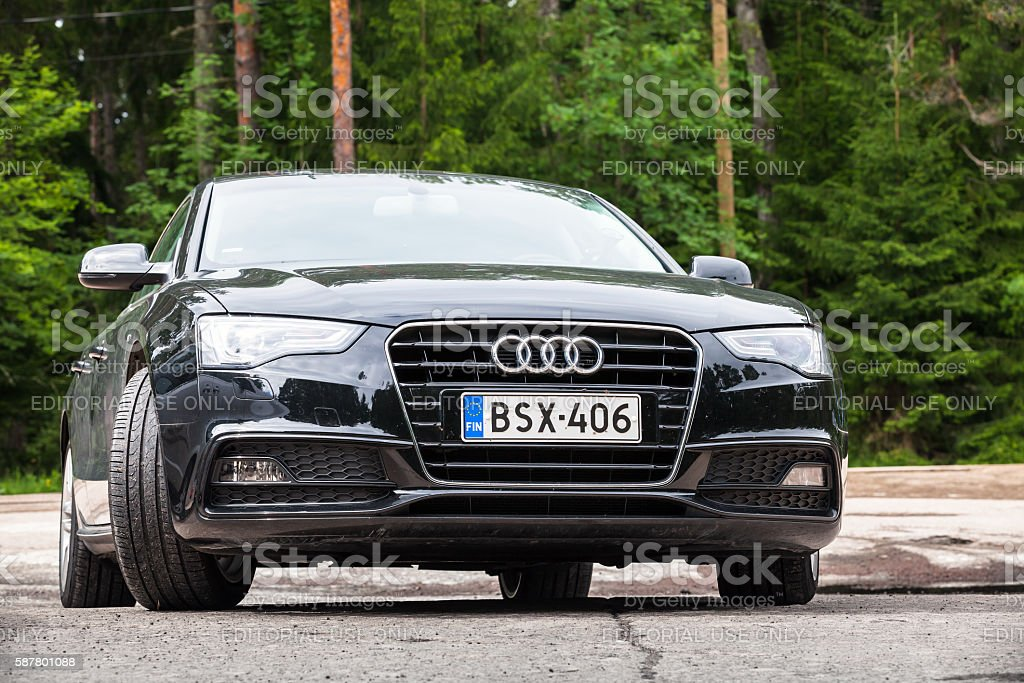 Black Facelift Audi A5 20 Tdi 2012 Model Year Stock Photo Download Image Now Istock