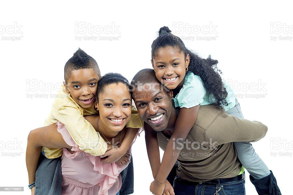 black family portrait royalty-free stock photo