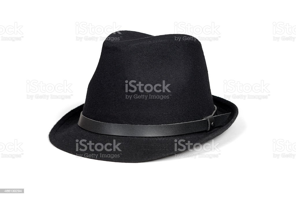 Black fashion hat stock photo