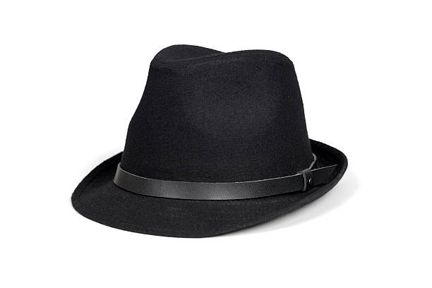 Black fashion hat stock photo