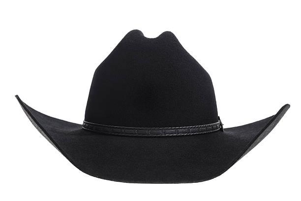Black felt Cowbot hat on white background stock photo a17c3f8f5eb