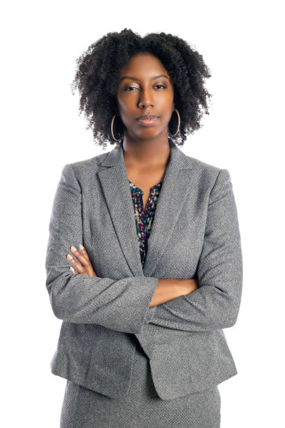 Black Female Businesswoman Looking Confident and Successful stock photo
