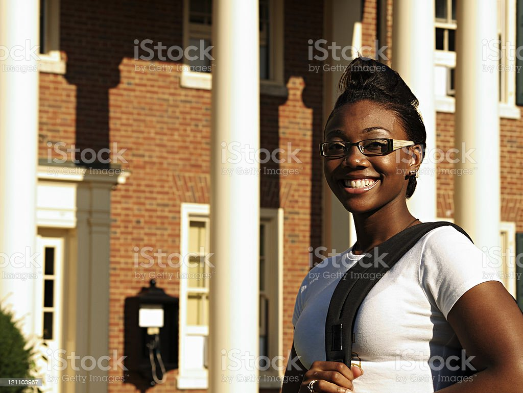 Black Female College Student royalty-free stock photo