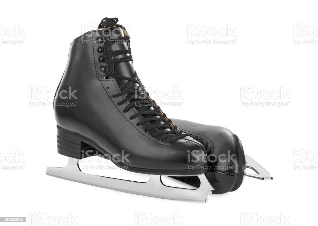Black figure skates foto stock royalty-free