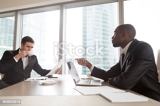 istock Black financial consultant talking with investor 843533918