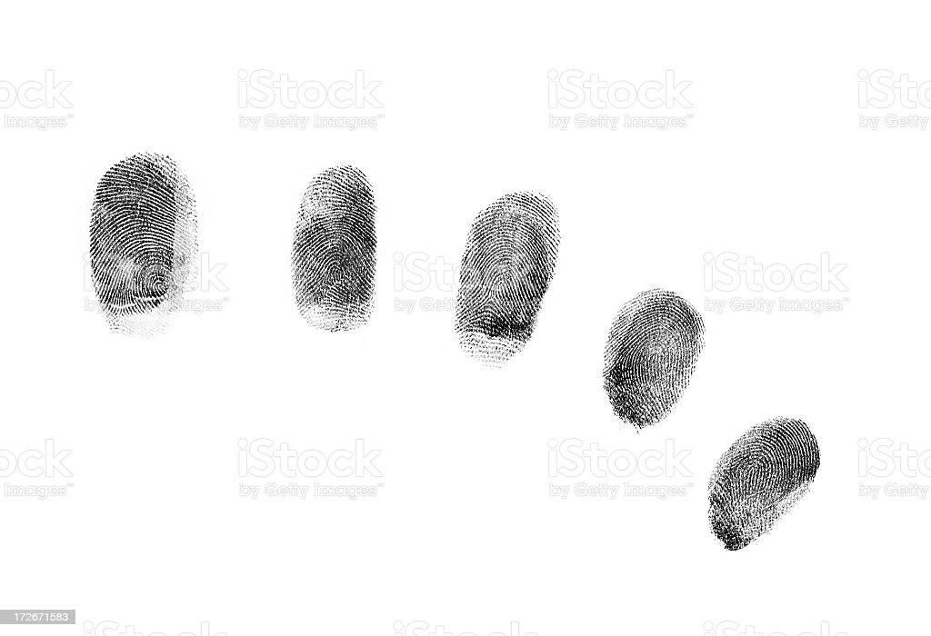 Black fingerprints royalty-free stock photo