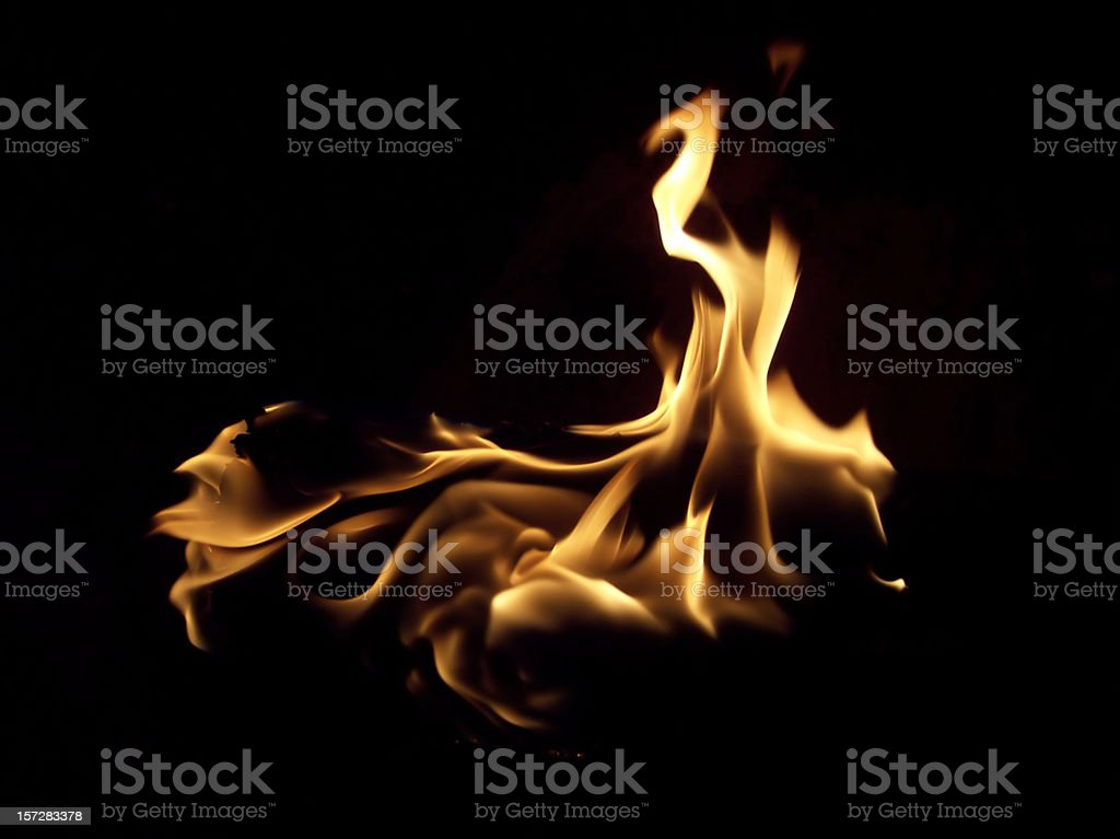 Black Fire - Large Uncropped stock photo