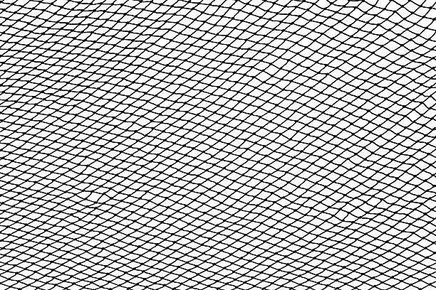 Black fishing net silhouette isolated on white Black fishing net silhouette isolated on white background fishing net stock pictures, royalty-free photos & images