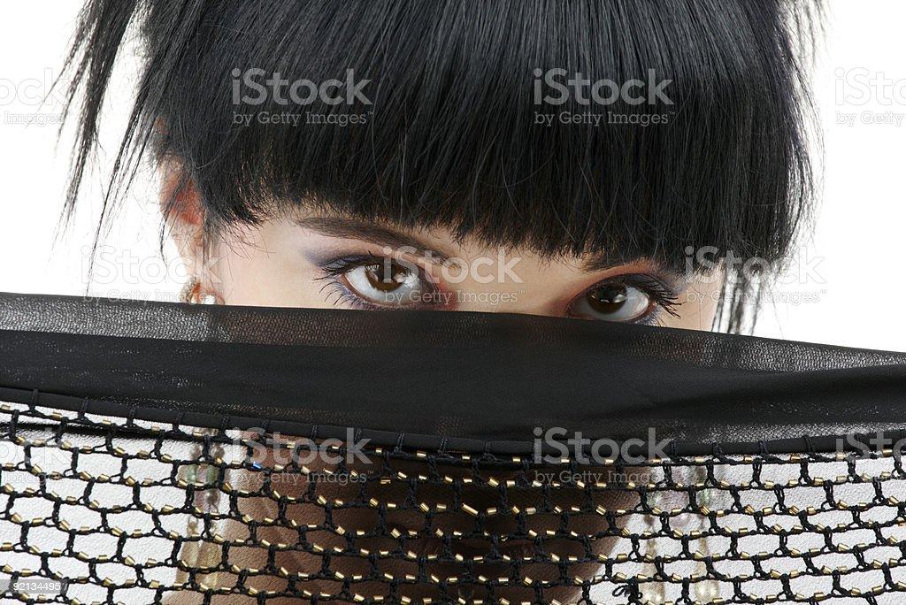 black fishnet mystery stock photo