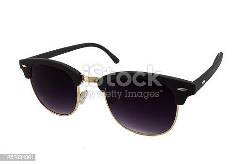1047544590 istock photo Black Flat Top Sunglasses Isolated on White 1252034361