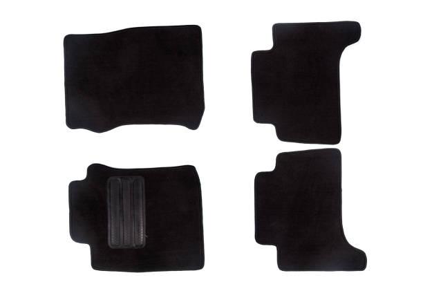 Araba için siyah paspaslar stok fotoğrafı