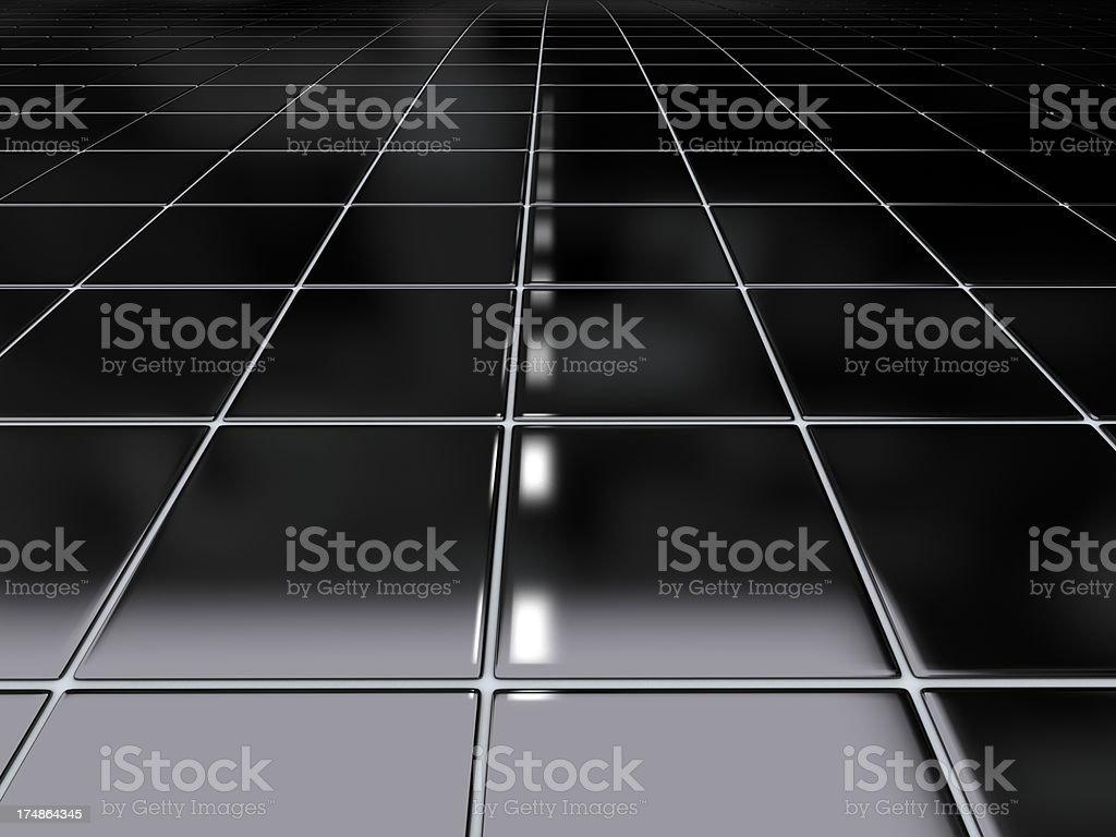 Black floor tiles royalty-free stock photo