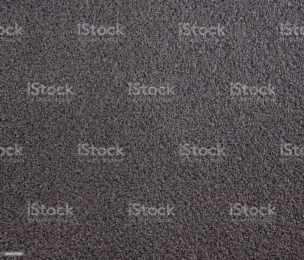 Black foam rubber stock photo