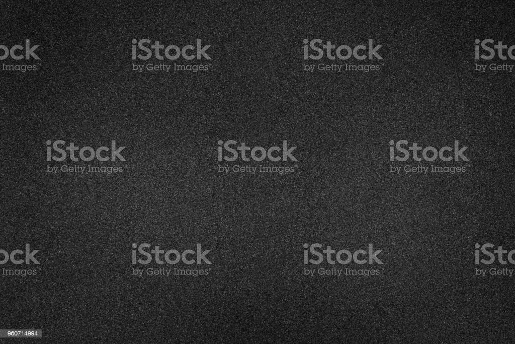 Black foam texture background. Blank rubber structure. stock photo
