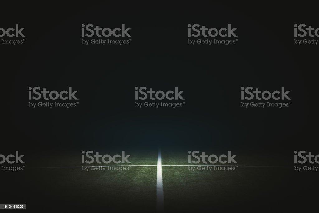 Schwarze Fußball Feld Hintergrund – Foto
