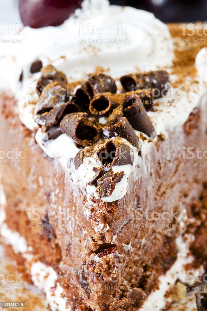 Black Forest Cake Close Up royalty-free stock photo