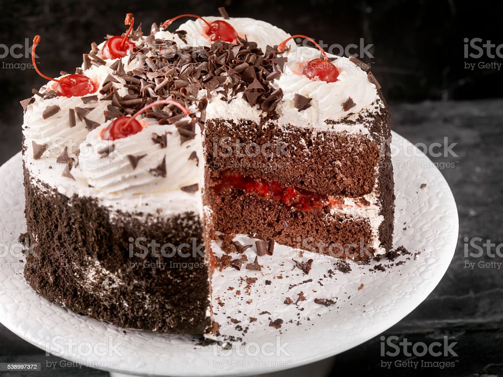 Black Forest Cake stock photo