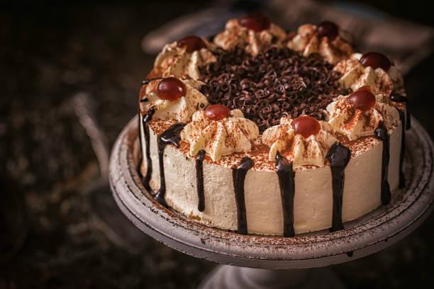 Black Forest Cake stock photo