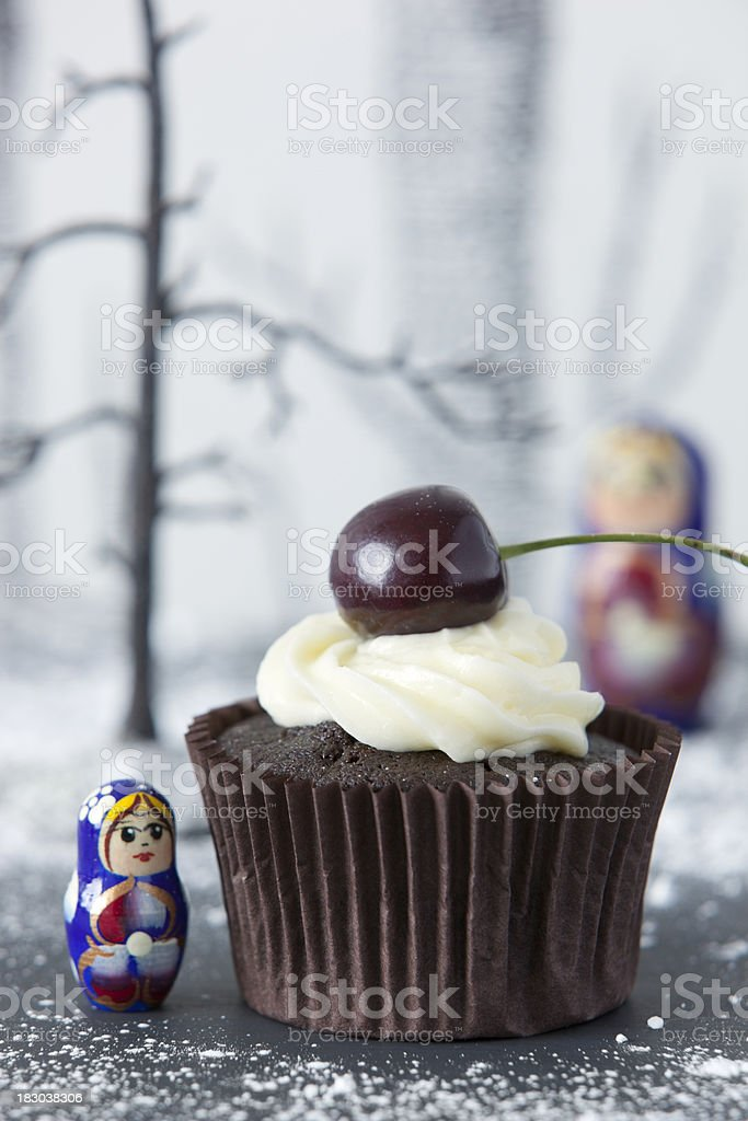 Black Forest Cup Cake royalty-free stock photo
