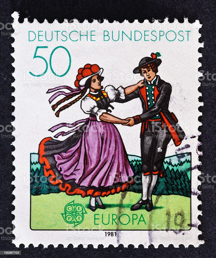 Black Forest Dancers royalty-free stock photo