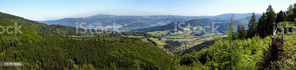 Black Forest Panorama stock photo