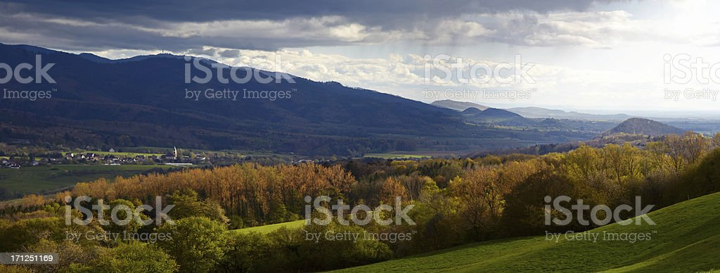 Black Forest panorama royalty-free stock photo