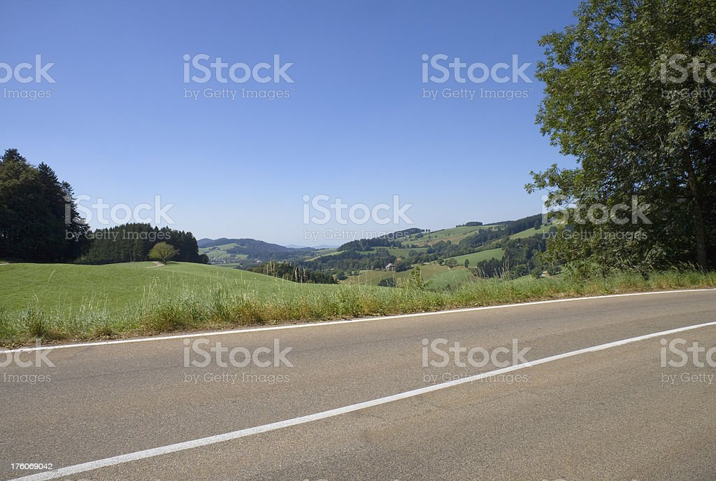 black forest panorama road royalty-free stock photo