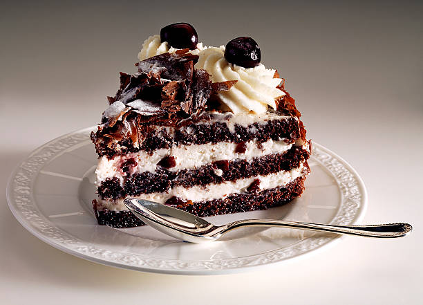 black forest sweet stock photo