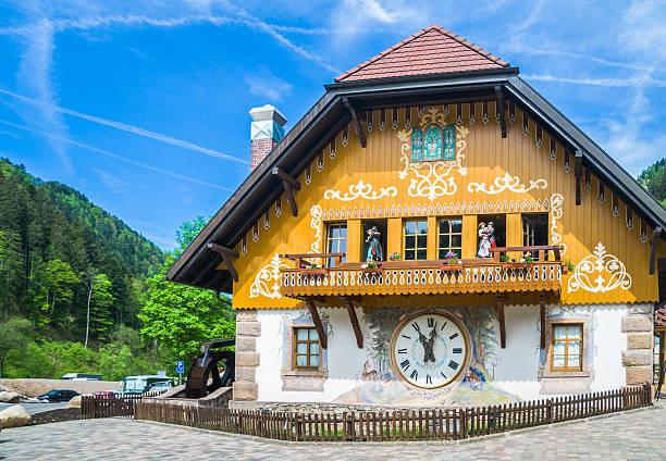 Black Forest Village Clock stock photo