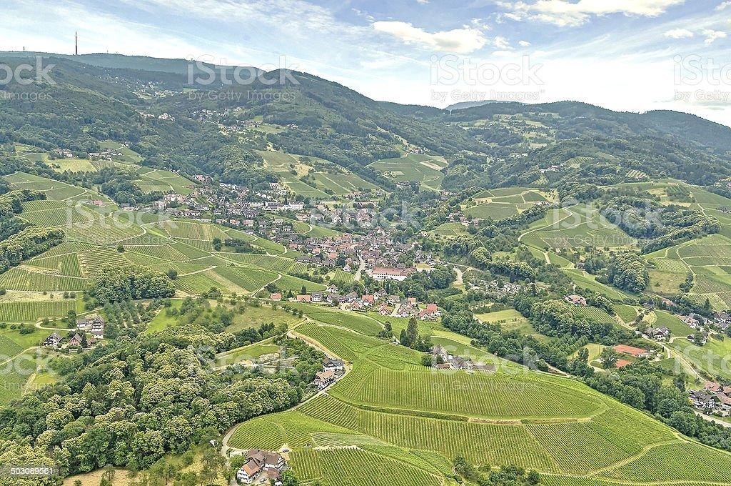 Black Forest village in the spring stock photo