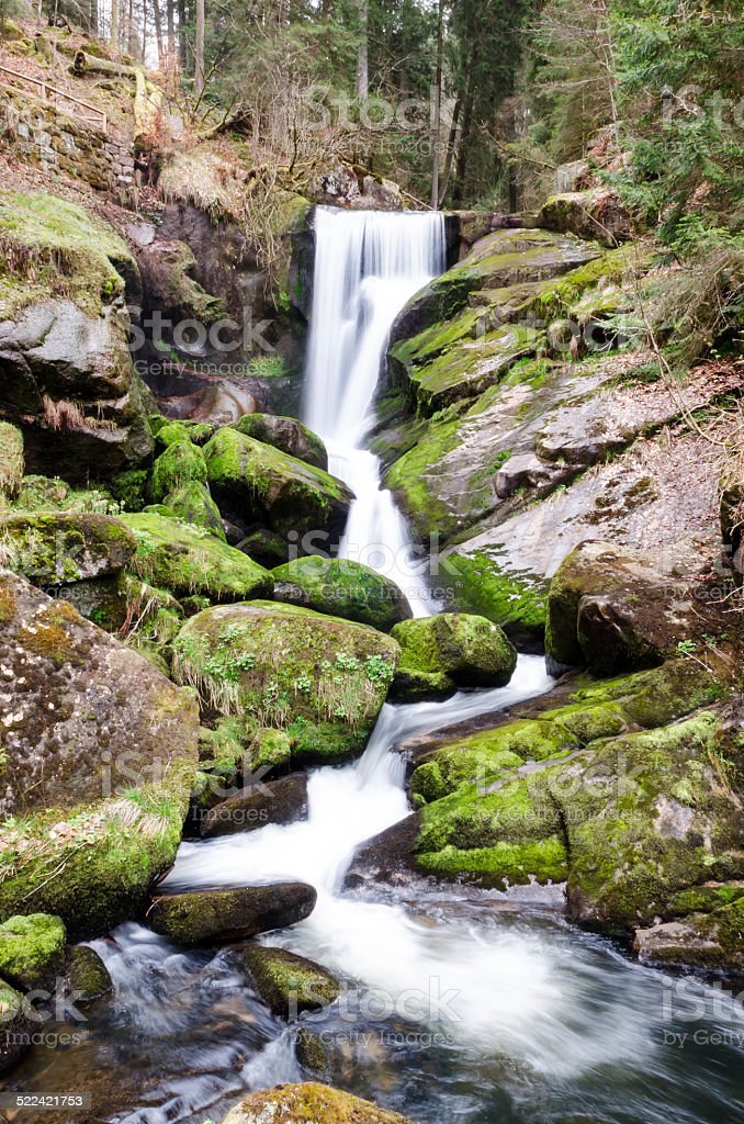 Black Forest waterfall stock photo