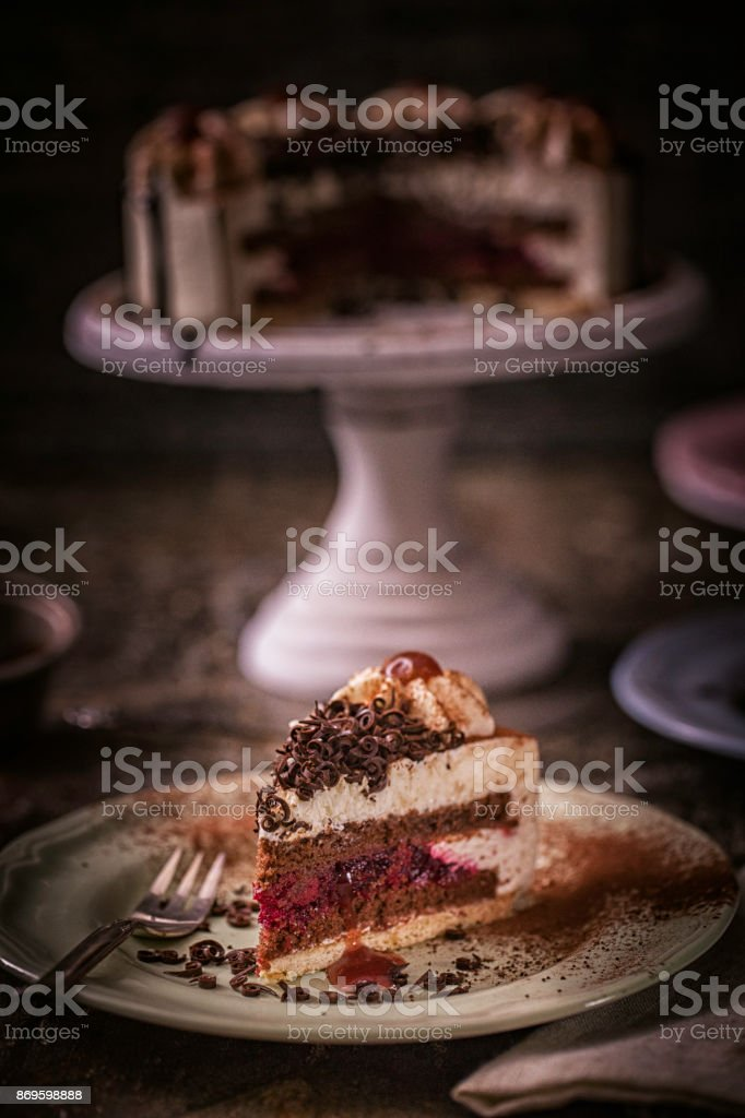 Black Forrest Cake with Whipped Cream
