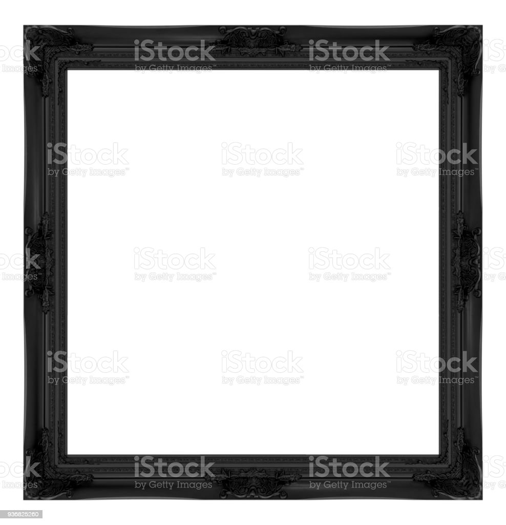 black frame isolated on white background. stock photo