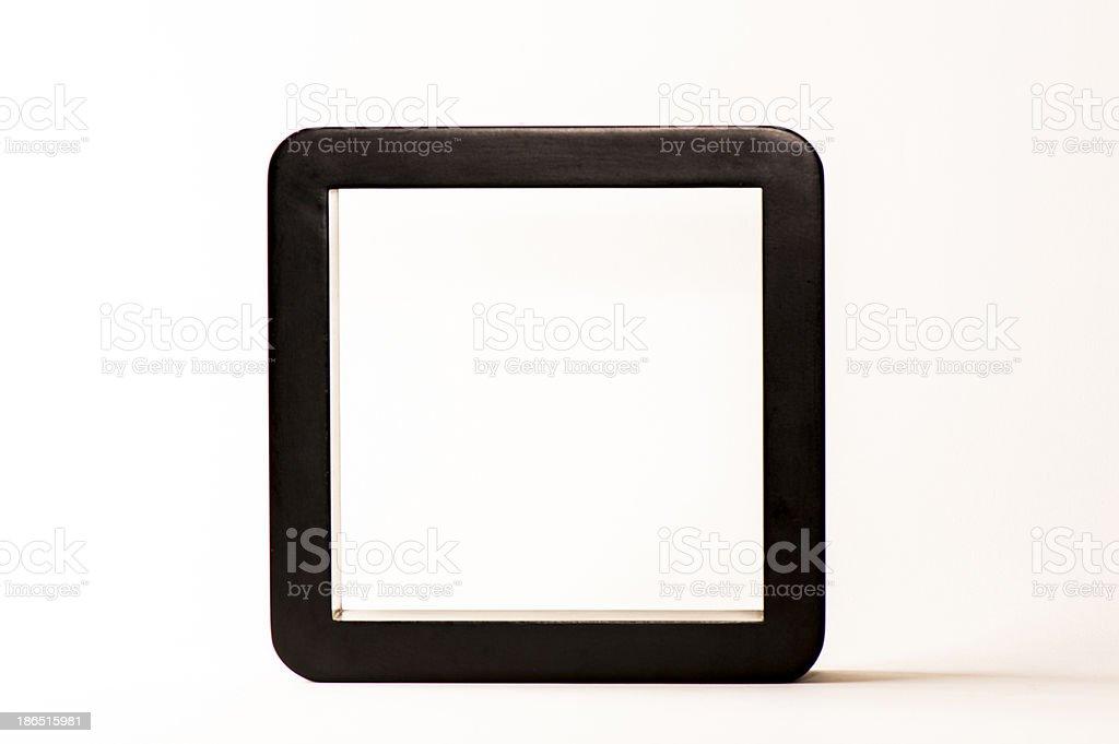 Black frame on white background royalty-free stock photo