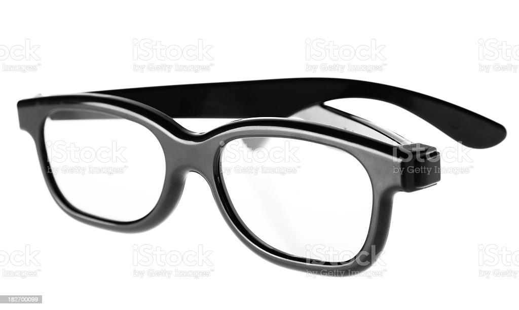 Black framed glasses on a white background royalty-free stock photo