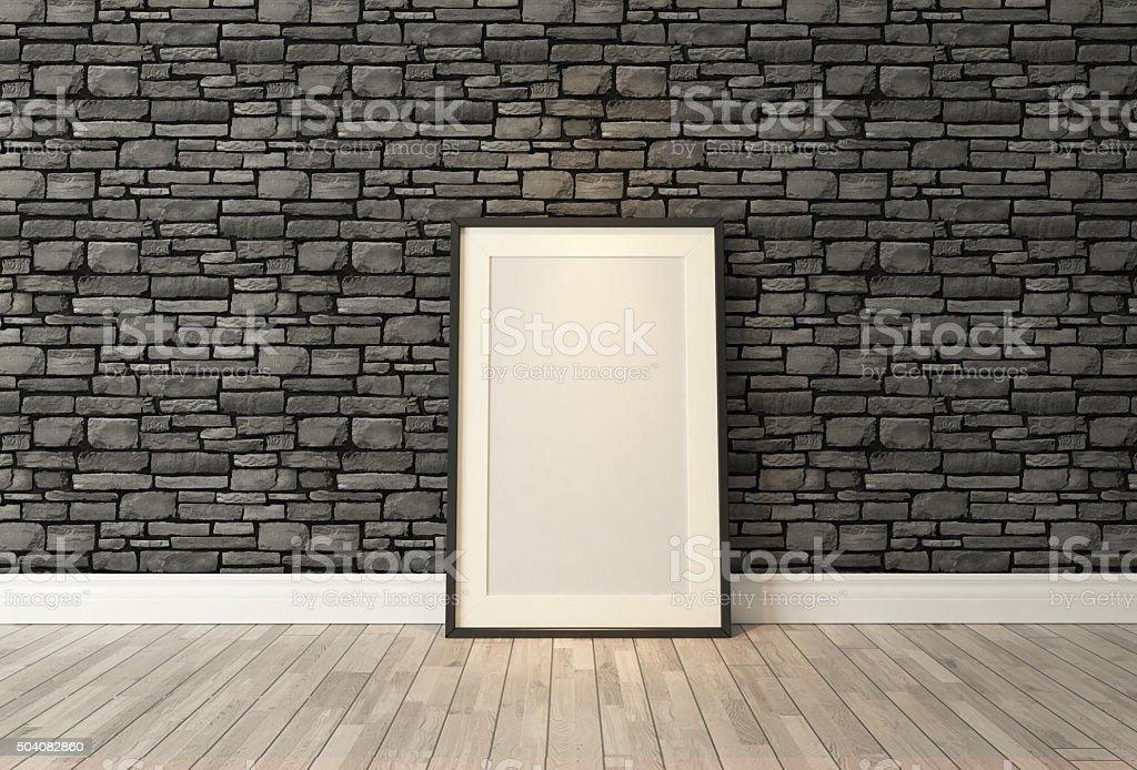Fotogrammi Neri Decorazioni Nero Naturale Muro Di Mattoni Sfondo