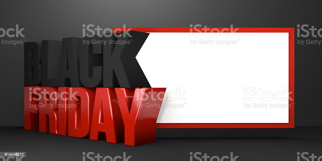 black friday 3d render black friday sale stock photo